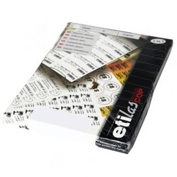 Etichete autoadezive Etilux Etilascop, 117/A4, 20 mm, rotunde, alb, 100 coli/top