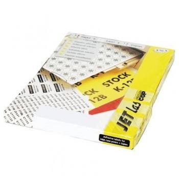 Etichete autoadezive Etilux Jetlascop, 1/A4, galben