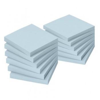 Notite adezive Info Notes, 75 x 75 mm, albastru, 100 file