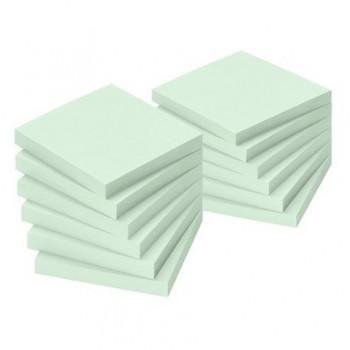 Notite adezive Info Notes, 75 x 75 mm, verde, 100 file