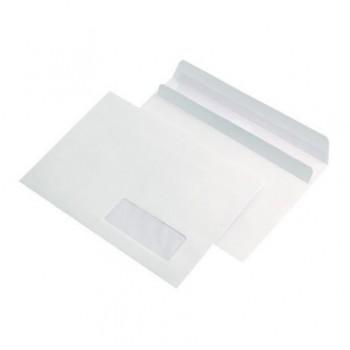 Plic LC/6, 114 x 162 mm, autoadeziv, fereastra dreapta, alb, 25 bucati/set