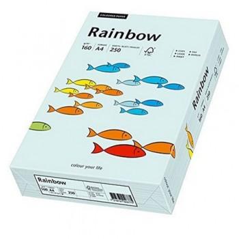 Carton A4 Rainbow, 160 g/mp,  250 coli/top, albastru pastel