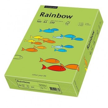 Carton A4 Rainbow, 160 g/mp,  250 coli/top, verde