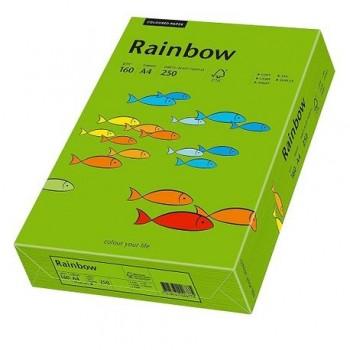 Carton A4 Rainbow, 160 g/mp,  250 coli/top, verde intens