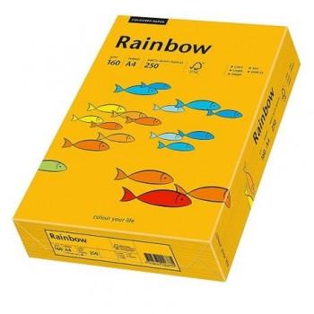 Carton A4 Rainbow, 160 g/mp,  250 coli/top, portocaliu