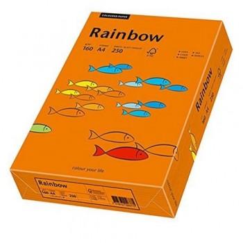 Carton A4 Rainbow, 160 g/mp,  250 coli/top, portocaliu intens