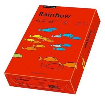 Carton A4 Rainbow, 160 g/mp,  250 coli/top, rosu intens