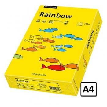Hartie A4 Rainbow, 80 g/mp, 500 coli/top, galben intens