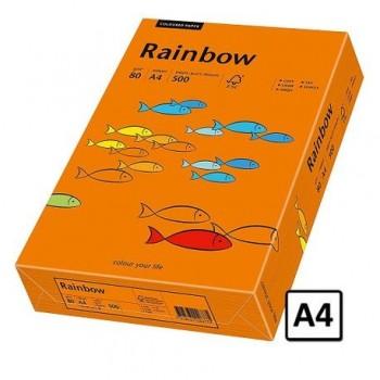 Hartie A4 Rainbow, 80 g/mp, 500 coli/top, portocaliu intens