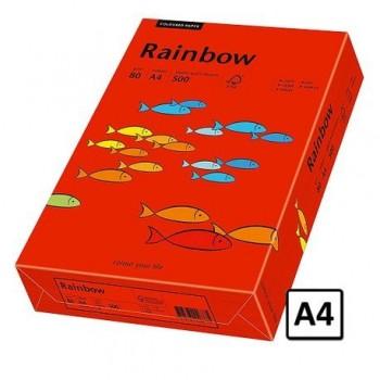 Hartie A4 Rainbow, 80 g/mp, 500 coli/top, rosu intens