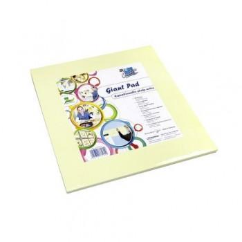 Pad gigant pentru colorat Info Notes, galben, 50 coli