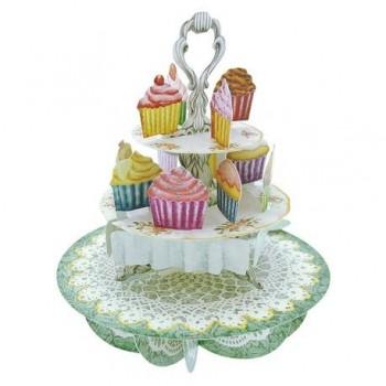 Felicitare 3D Pirouettes, cupcake