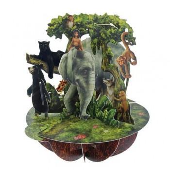 Felicitare 3D Pirouettes, cartea junglei