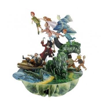 Felicitare 3D Pirouettes, Peter Pan