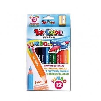 Creioane colorate Toy Color Jumbo, 12 culori