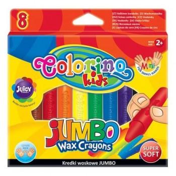 Set creioane cerate Colorino Jumbo, 8 bucati