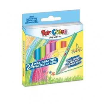 Creioane cerate Toy Color, 24 bucati