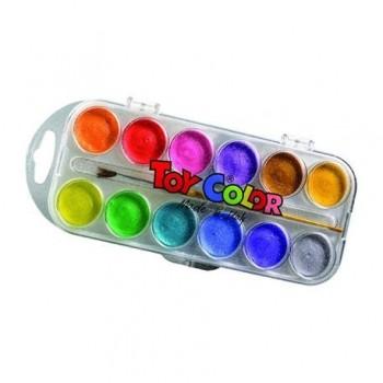 Acuarele perlate Toy Color, 12 culori