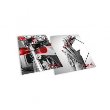 Mapa carton Skag Red Collection, inchidere cu elastic