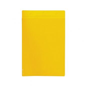 Buzunar vertical Tarifold pentru identificare, A4, galben, 10 bucati/set