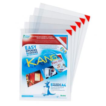 Buzunar prezentare Tarifold Easy Click repozitionabile, A4, 5 bucati/set