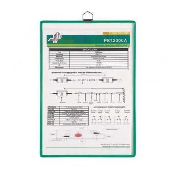 Buzunar de prezentare Tarifold Hanging, A5, vertical, verde, 5 bucati/set