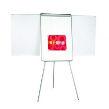 Flipchart magnetic fix Bi-Silque, cu brate extensibile, rama din aluminiu, 70 x 100 cm