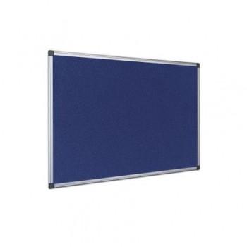 Panou textil Interpano, rama din aluminiu, 90 x 120 cm, albastru