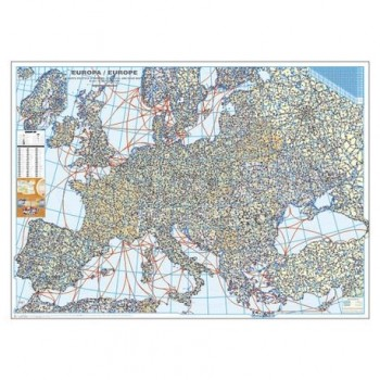 Harta Europei politica si rutiera 100 x 140 cm, scara 1:3,5 mil