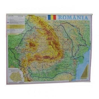 Harta Romania fizico-geografica si administrativac 100 x 140 cm