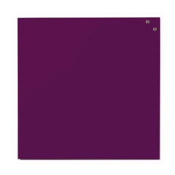 Tabla magnetica din sticla Naga, 45 x 45 cm, violet