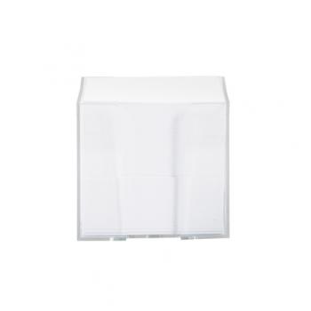 Suport plastic pentru cub de hartie, 9 cm x 9 cm, transparent