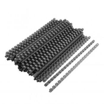 Spire de plastic Fellowes, 22 mm, negru, 50 bucati/set