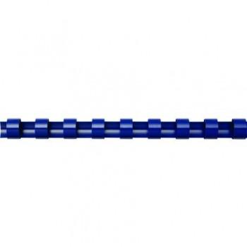 Spire de plastic Fellowes, 25 mm, albastru, 50 bucati/set