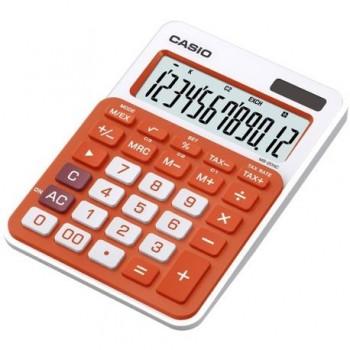 Calculator de birou Casio MS-20NC, 12 digits, portocaliu