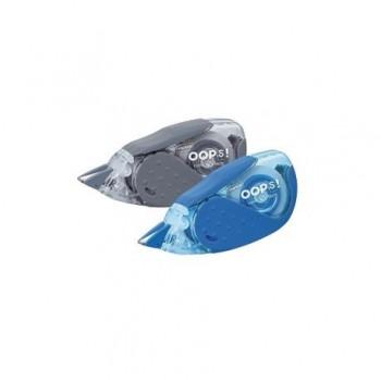 Banda corectoare Staples, 5 mm x 8 m, albastru si gri, 2 bucati/set
