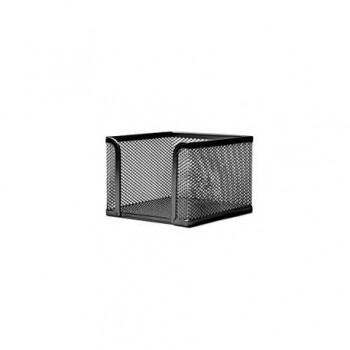 Suport metalic pentru cub de hartie, mesh, negru