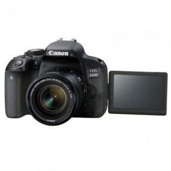 Camera foto Canon DSLR EOS 800D + EF-S 18-55 IS (stabilizator) Black,24.2MP, APS-C CMOS, 3