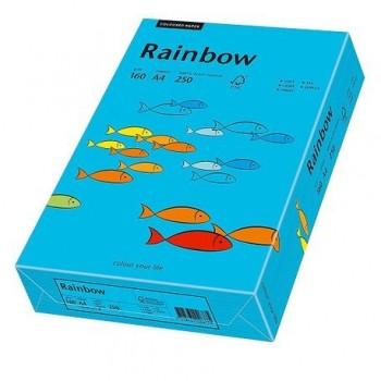Carton A4 Rainbow, 160 g/mp,  250 coli/top, albastru