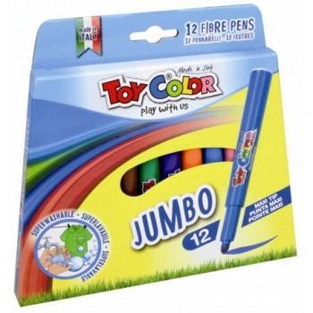Carioci Toy Color Jumbo, 12 culori