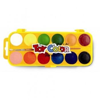 Acuarele Toy Color, 12 culori