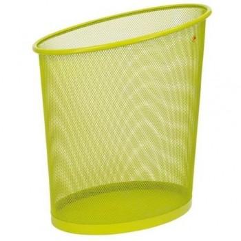 Cos de birou metalic Alba, 18 l, verde