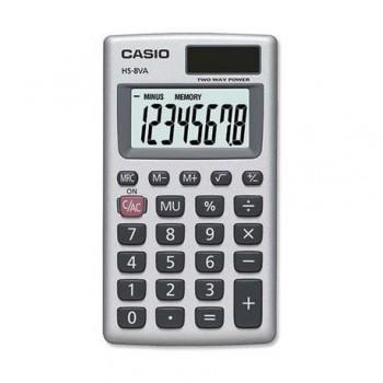 Calculator de buzunar Casio HS-8VA, 8 digits, argintiu