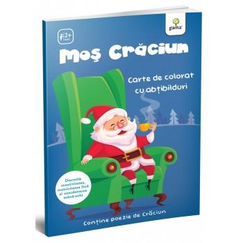 Moș Crăciun. Carte de colorat cu abțibilduri