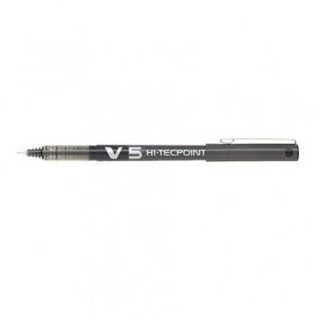 Roller Pilot V5 Hi-Tecpoint, 0.5 mm, negru