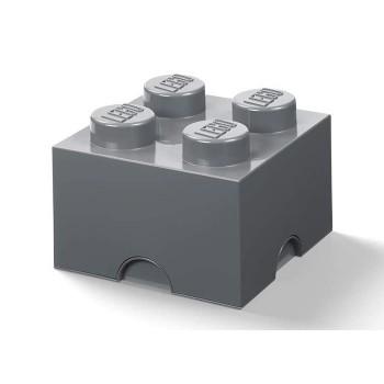 Cutie depozitare LEGO 2x2 gri inchis (40051754)