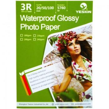 Hartie foto Yesion Waterproof Glossy 3R, 260 g/mp, 20 coli/pachet