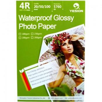 Hartie foto Yesion Waterproof Glossy 4R, 230 g/mp, 20 coli/pachet