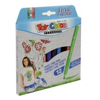 Carioci Toy Color pentru textile, 12 culori
