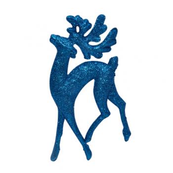 Set 5 ornamente ren, albastru